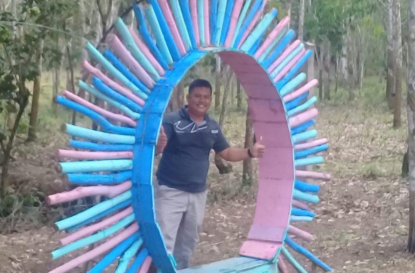 Taman Selfie Putri Desa Bukit Makmur Kecamatan Betung Mulai Ramai Diminati Pengunjung
