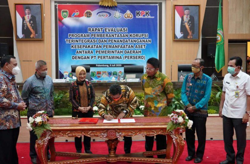 Disaksikan Ketua KPK, Bupati Askolani Teken Kesepahaman dengan PT. Pertamina