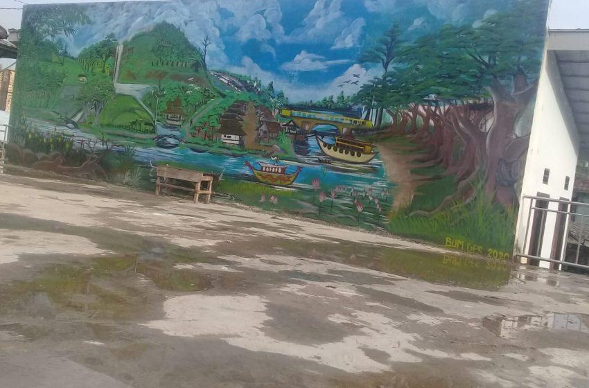 Sambut HUT RI ke 75, Alun – Alun Desa Lubuk Lancang di Percantik