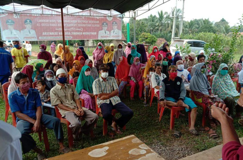 Artha Graha Peduli Melalui PT MAR Bagikan 175 Paket Sembako Kepada Warga Desa Rimba Terab