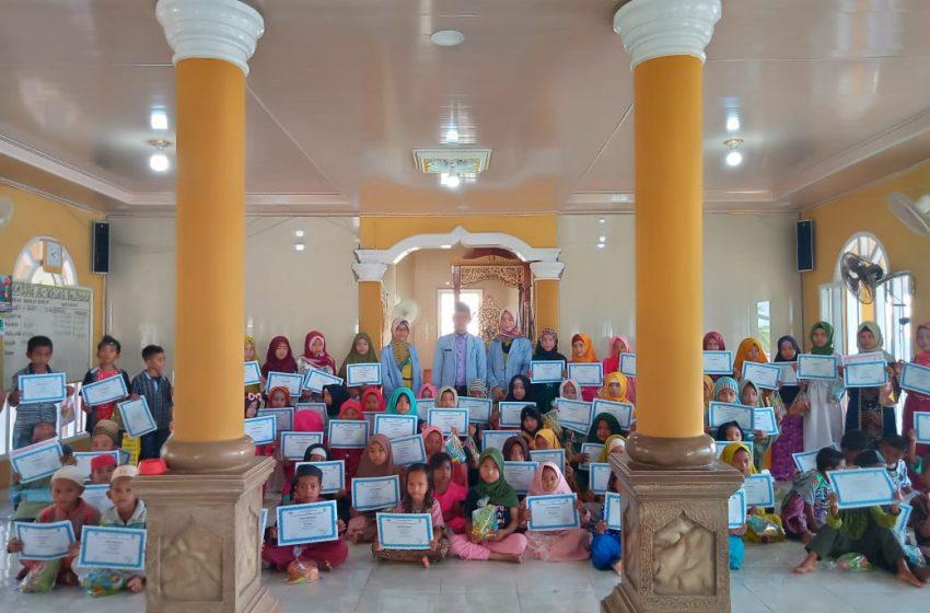 Penutupan MTQ Tingkat TKA TPA di Desa Kemang Bejalu Berlangsung Meriah