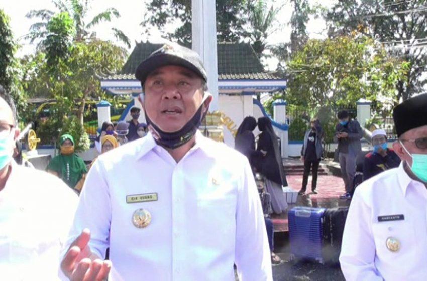 30 santri Lahat berangkat ke Pulau Jawa