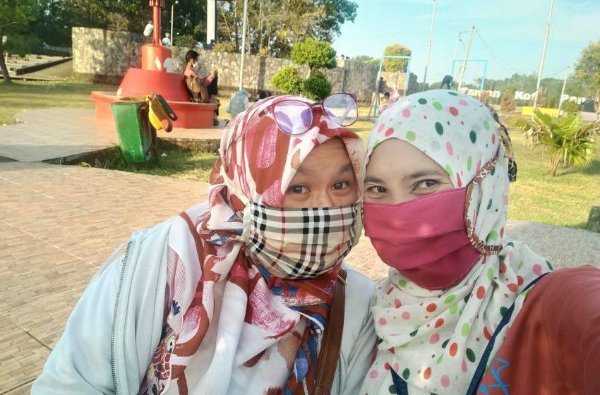 Manfaatkan Libur Idul Adha, Warga Ramai Kunjungi Taman Kota Pangkalan Balai