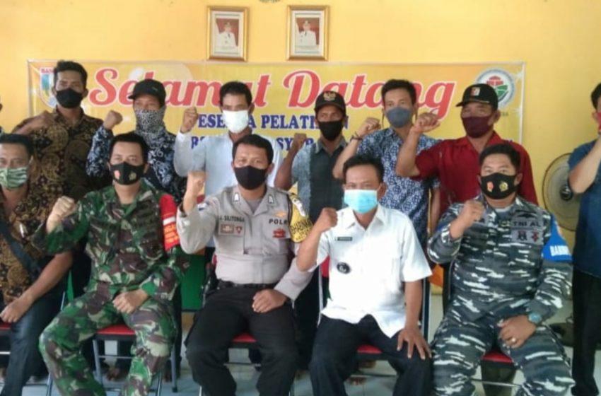 Babinsa Koramil Talang Kelapa Hadiri Pelatihan Keamanan Dan Ketertiban Masyarakat Desa