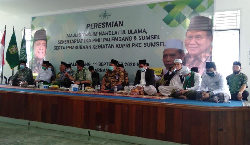 Majelis Ta'lim NU dan Sekretariat IKA PMII Sumsel Di Resmikan