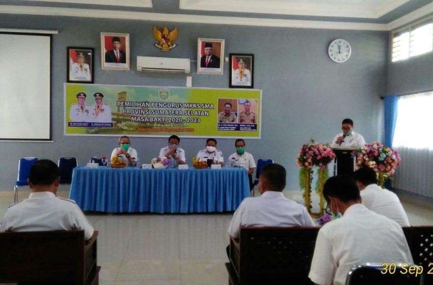 Ketua MKKS SMA Provinsi Sumatera Selatan Terpilih Aklamasi