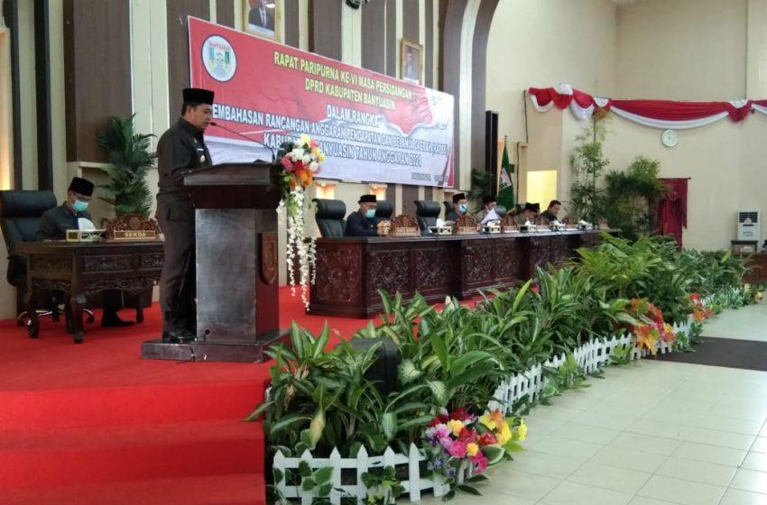 DPRD Banyuasin Gelar Rapat Terbuka RAPBD 2021
