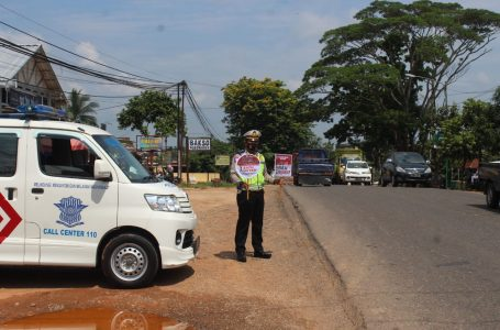 Polres Banyuasin Sosialisasi Jelang Operasi Zebra Musi 2020