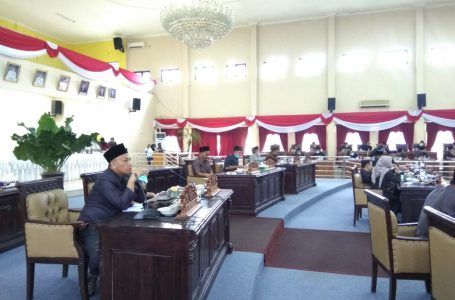 Rapat Badan Anggaran (Banggar) pembahasan Rancangan Anggaran Pendapatan Belanja Daerah (RAPBD) Tahun 2021, yang tidak di hadiri kepala Bappeda Litbang Banyuasin dan Kepala Bapenda Banyuasin