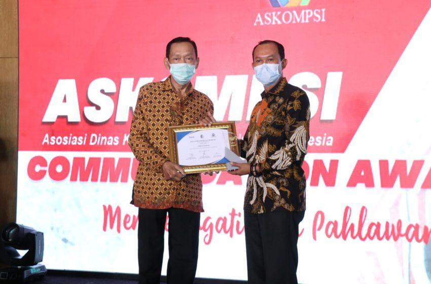 Harnojoyo Satu-Satunya Walikota penerima Communication Award 2020