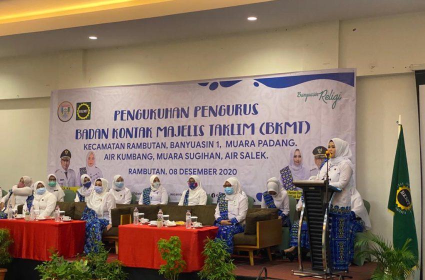 Pengurus BKMT Kabupaten Banyuasin Periode 2020-2025 Dikukuhkan