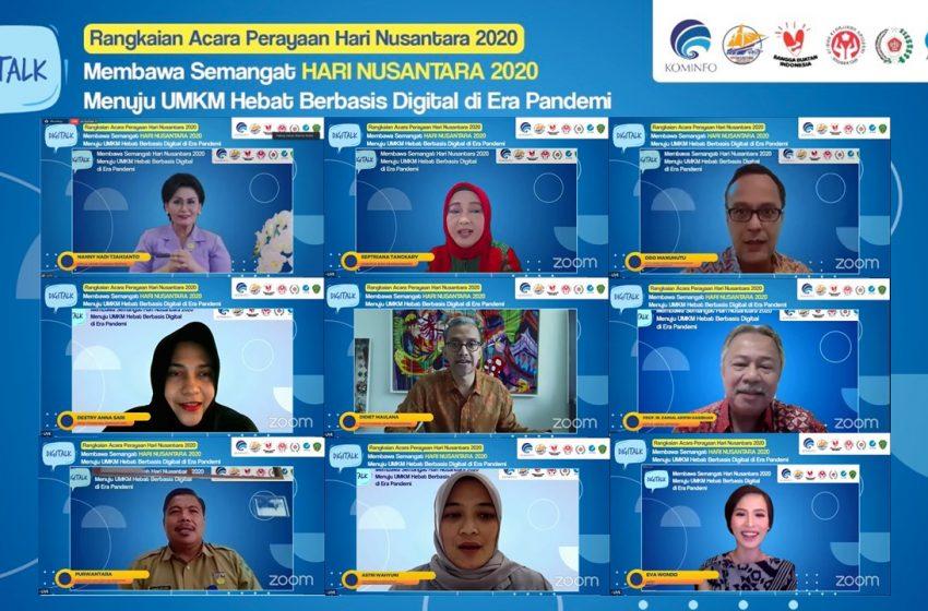 Membawa Semangat Hari Nusantara 2020 Menuju UMKM Hebat Berbasis Digital di Era Pandemi