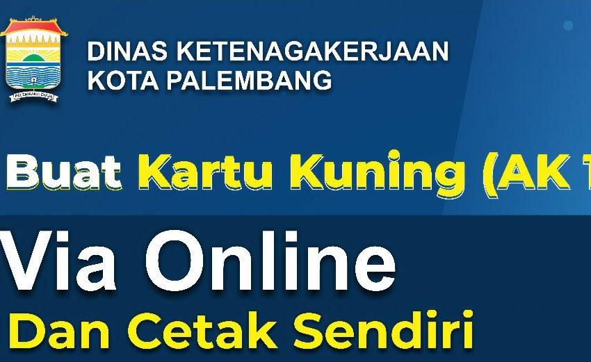 Daftar Online, Kartu Kuning AK 1 di Palembang Bisa Cetak Dirumah
