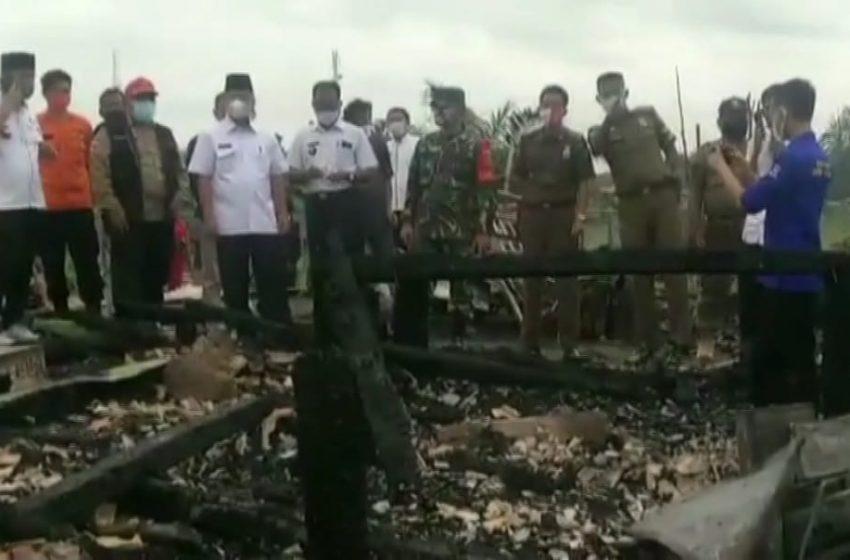 Akibat Korsleting Listrik, Enam Rumah di Sekayu Ludes Terbakar