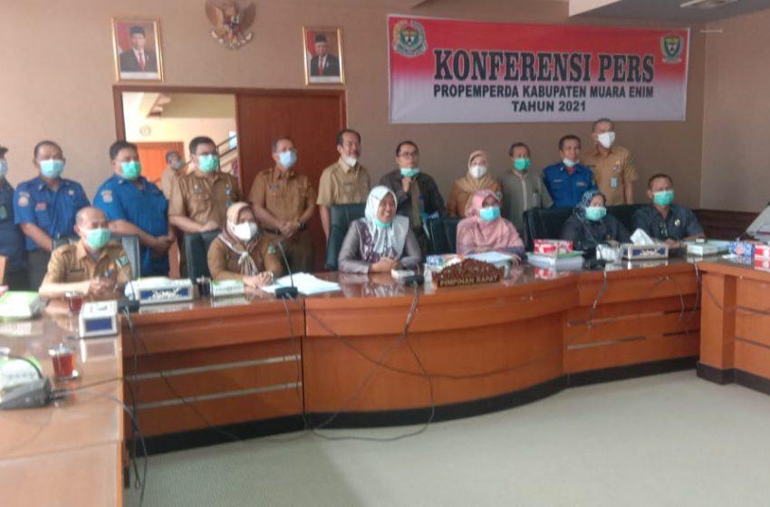 DPRD dan Pemkab Muara Enim Sepakati 11 Raperda Eksekutif dan 3 Raperda Inisiatif DPRD