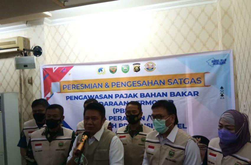 Gubernur Resmikan Satgas Pengawas PBBKB Perairan Sumsel