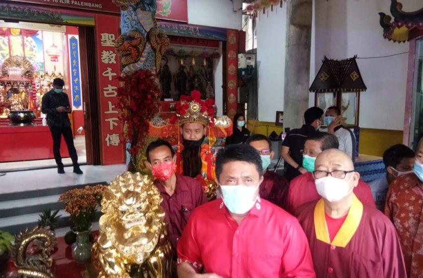 Gubernur Sumsel Hadiri Perayaan Imlex di Vihara Vajra Bhumi Sriwijaya
