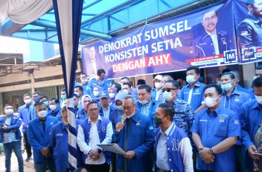 Partai Demokrat Sumsel Aksi ke Kemenkumham Tolak KLB Sumatera Utara