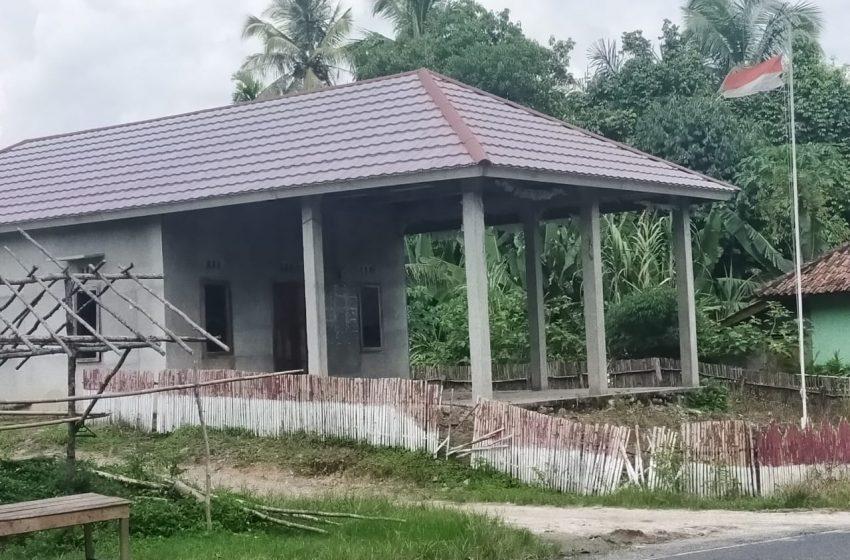 Kantor Desa Tebing Kampung OKU Terbengkalai