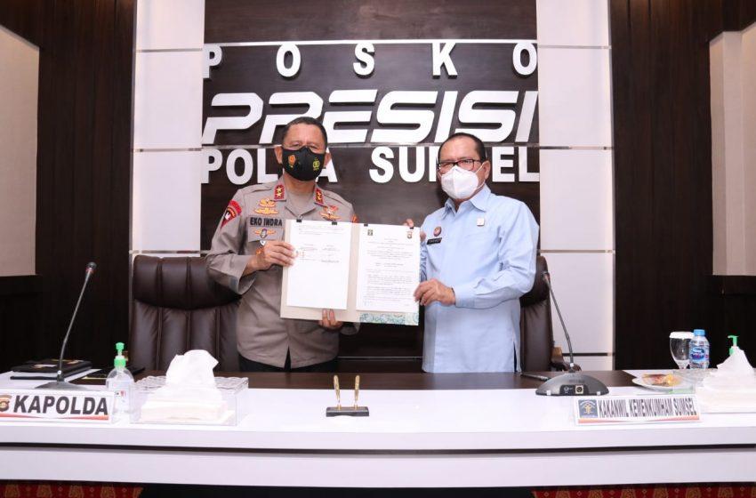 Polda Sumsel Laksanakan Penandatanganan PKS dengan Kakanwilhukumham