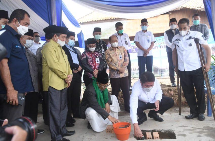 Gubernur Sumsel Melakukan Peletakan Batu Pertama Pembangunan Masjid Jamik Tjik Luwi Al – Murhaniah