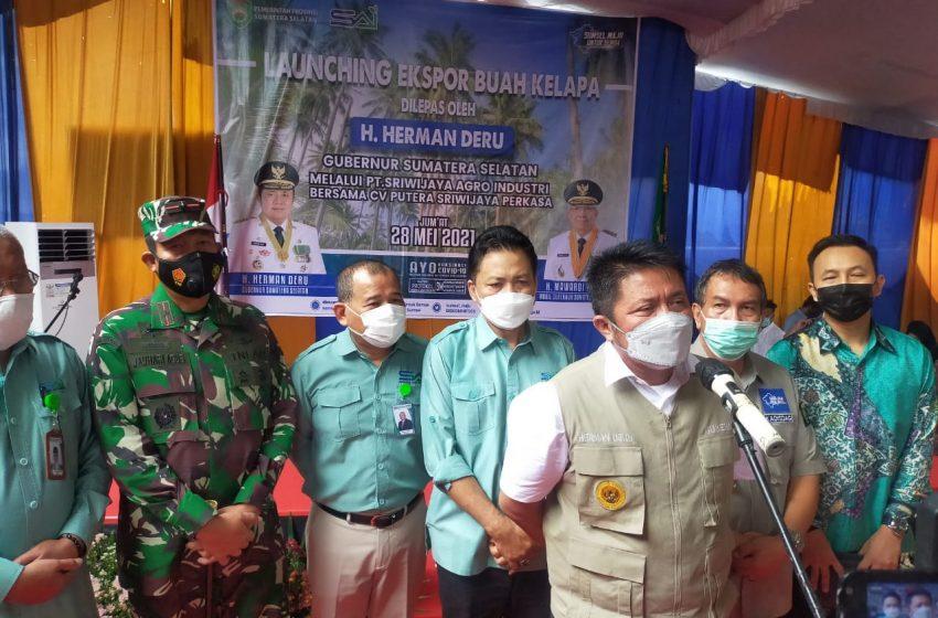 Tingkatkan Kesejahteraan Petani, Pemprov Sumsel Ekspor Kelapa