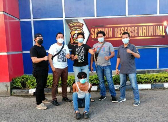 Polrestabes Palembang Tangkap Buronan Pelaku Pembacokan