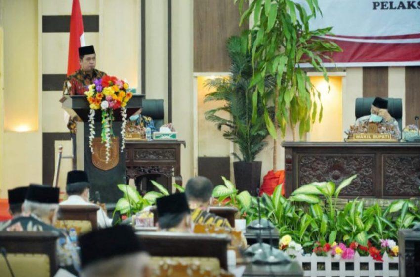 Askolani Sampaikan Raperda LKPJ APBD 2020 Pada Rapat Paripurna DPRD Banyuasin