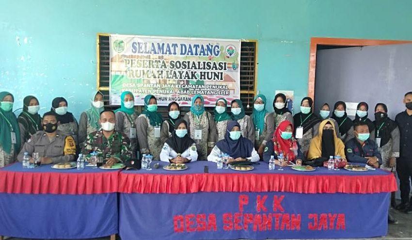 Ciptakan Masyarakat Sehat Mulai Desa,Koramil 404-03 Talang Ubi Gelar Sosialisasi Rumah Sehat Layak Huni