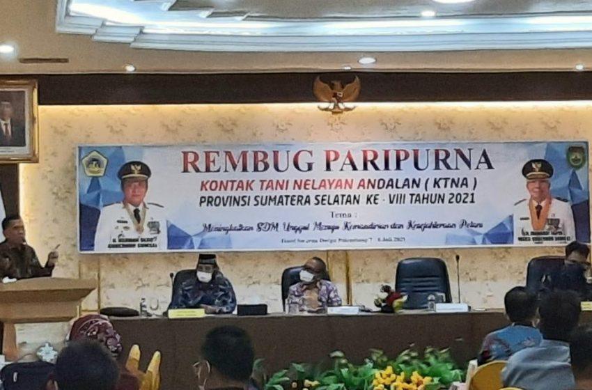 Pertanian Stabil di Tengah Pandemic, Sumsel Siap Urun Rembuk Penas di Kalimantan