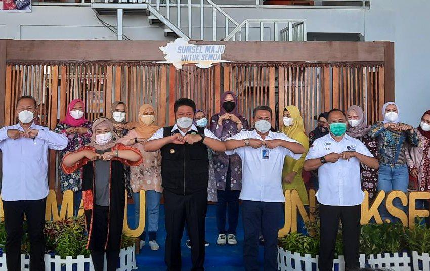 Gubernur Sumsel Resmikan Workshop Pembuatan Aspal Goreng