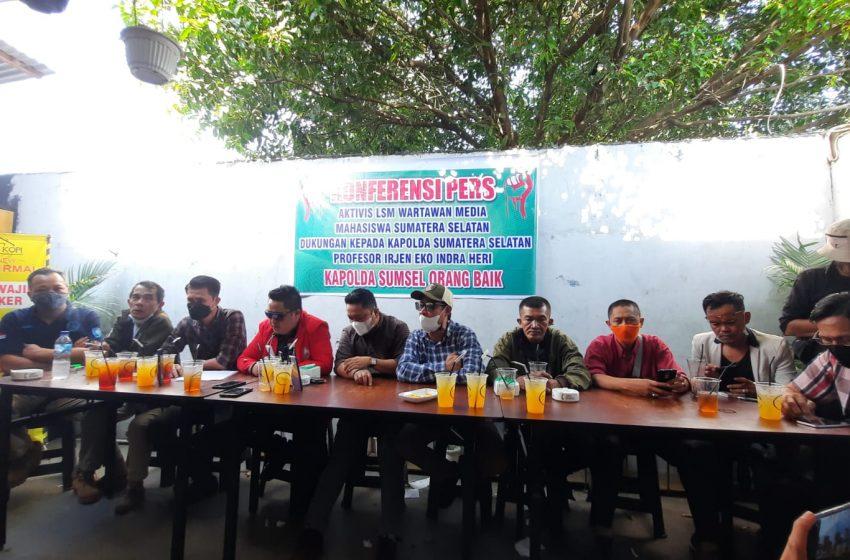 Dukung Penuh Kapolda Sumsel Puluhan Aktivis, LSM, Wartawan dan Media