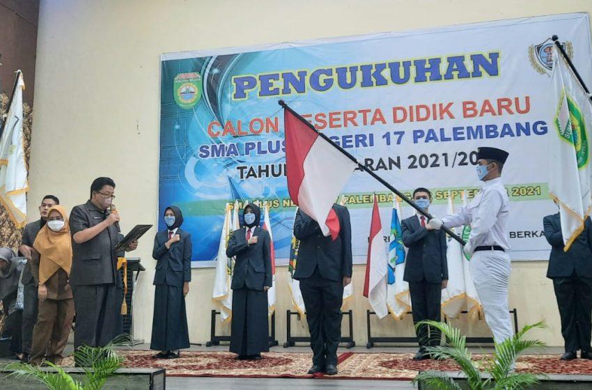 371 Peserta Didik Baru SMA Plus Negeri 17 Palembang Dikukuhkan